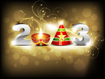 Abstract glossy new year wallpaper Royalty Free Stock Photography