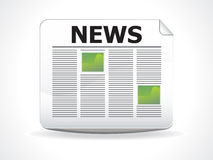 Abstract glossy news icon Stock Photography