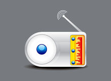 Abstract glossy radio icon Stock Photography