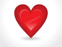 Abstract glossy red heart. Vector illustration Stock Image