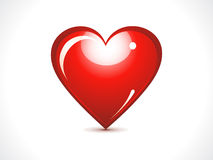 Abstract glossy red heart. Vector illustration Stock Photo