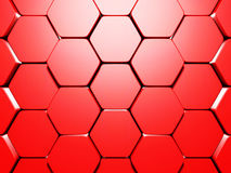 Abstract Glossy Red Hexagon Background Royalty Free Stock Images