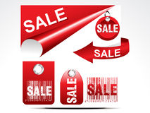 Abstract glossy sale tag set Royalty Free Stock Photography