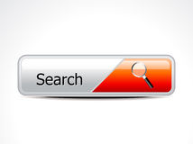 Abstract glossy search button Royalty Free Stock Images
