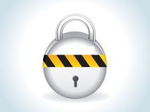 Abstract glossy silver lock icon Stock Photo
