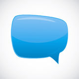 Abstract glossy speech bubble Stock Images