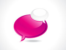 Abstract glossy speech bubble Royalty Free Stock Image