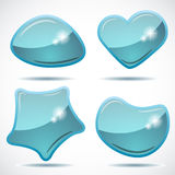 Abstract glossy speech bubbles Royalty Free Stock Photo