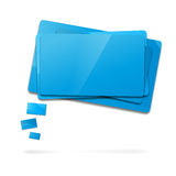 Abstract glossy speech bubbles. Abstract glossy blue speech bubbles -  on white Royalty Free Stock Photography