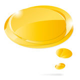 Abstract glossy speech bubbles. Abstract glossy yellow speech bubbles -  on white Royalty Free Stock Image
