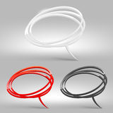 Abstract glossy speech bubbles. Three color variants Royalty Free Stock Image