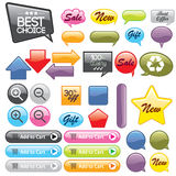 Abstract glossy speech bubbles vector backgrounds  Stock Photos