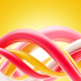 Abstract glossy spiral twirls background Stock Image