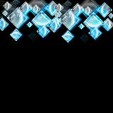 Abstract glossy squares vector background Royalty Free Stock Image