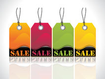 Abstract glossy tags Stock Image
