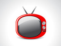 Abstract glossy television icon Stock Photo