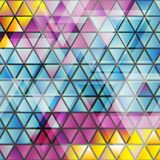 Abstract glossy triangles vector pattern Royalty Free Stock Photography