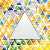 Abstract glossy triangles vector pattern Royalty Free Stock Photo