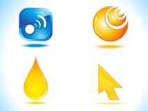 Abstract glossy web icon Stock Photo