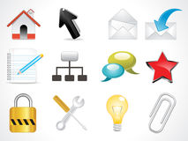 Abstract glossy web icon Stock Photos