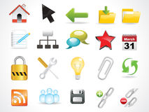 Abstract glossy web icon Stock Images