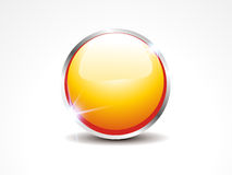 Abstract Glossy Yellow Web Button Royalty Free Stock Photo