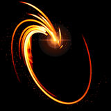Abstract glow  background with fire shape. Vector illustration Stock Photography