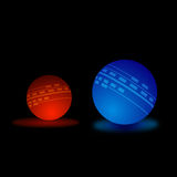 Abstract glow ball Royalty Free Stock Photos