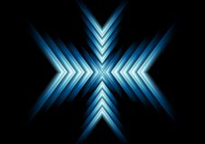 Abstract glow blue arrows design. Vector background Stock Photography