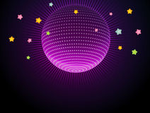 Abstract glow disco ball Royalty Free Stock Photo