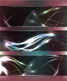 Abstract Glow Glass Banners Royalty Free Stock Photo