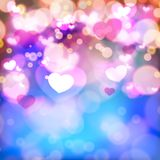 Abstract Glow Soft Hearts for Valentines Day Stock Photo