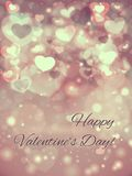 Abstract Glow Soft Hearts for Valentines Day Stock Photos