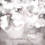 Abstract Glow Soft Hearts for Valentines Day Royalty Free Stock Image