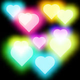 Abstract Glow Soft Hearts for Valentines Vector Stock Image
