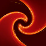 Abstract glow Twist with golden flow. Royalty Free Stock Photography