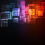 Abstract glowing  background Stock Images