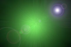 Abstract glowing background - green ligh. Beautiful glowing abstract background - green light Stock Image