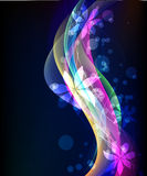 Abstract glowing background -  illustration Stock Images
