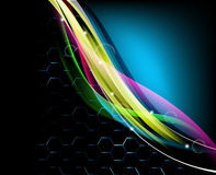 Abstract glowing background -  illustration.  Stock Photography