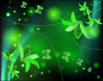 Abstract glowing background with lilies Royalty Free Stock Photography