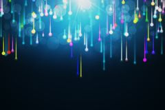 Abstract glowing background. Lines composed of glowing backgrounds, abstract background. 3D rendering Stock Photography