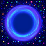Abstract glowing background with a magic circle for Royalty Free Stock Photography