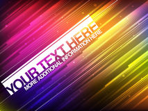 Abstract Glowing Banner With Colorful Stripes Stock Photos