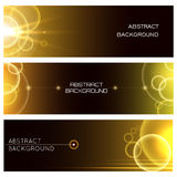Abstract Glowing Banner Set Royalty Free Stock Images