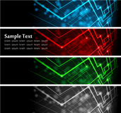 Abstract glowing banners Royalty Free Stock Photography