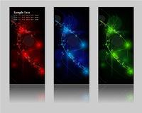 Abstract glowing banners Royalty Free Stock Image