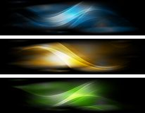 Abstract glowing banners collection Royalty Free Stock Image
