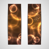 Abstract glowing banners Stock Photos