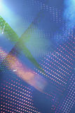Abstract glowing blue background Stock Photo